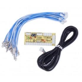 1 player zero delay USB encoder - 4.8mm connectors - bundle