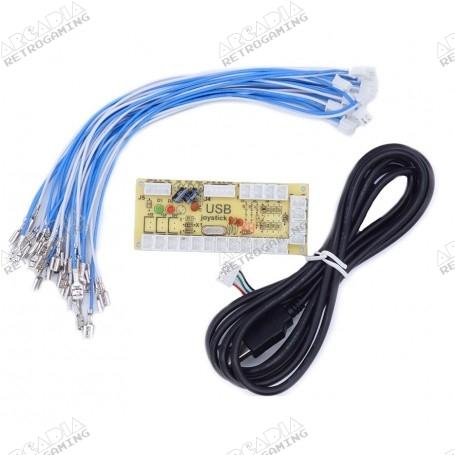 Encodeur USB 1 joueur Zéro délai - connecteurs 4.8mm - bundle