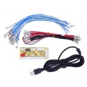 Zero delay LED USB encoder - 1 player - 4.8mm connectors - bundle