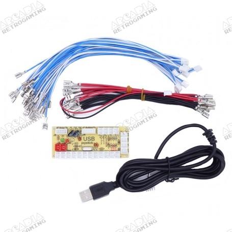 Encodeur USB LED Zéro délai - 1 joueur - connecteurs 4.8mm - bundle