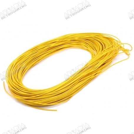 Câble électronique AWG 22 - Jaune