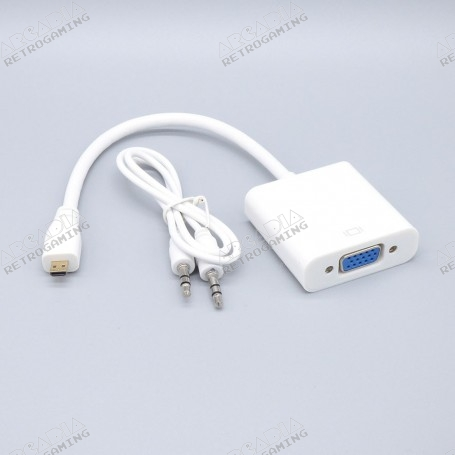 Convertisseur Micro-HDMI VGA avec audio