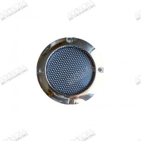Grille Haut-Parleur 65mm - Chrome