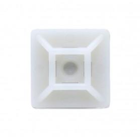 Serre câble adhésif 19x19mm - Blanc