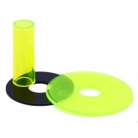 Couvre tige et anti poussière Sanwa JLF-CD - Transparent - Jaune