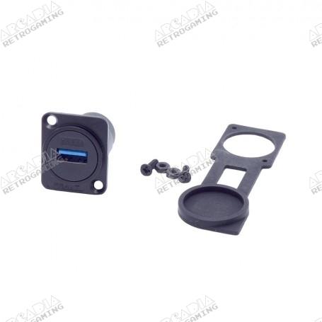 Prise façade USB 3 étanche