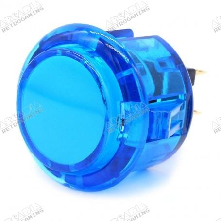 Bouton poussoir AIO silencieux transparent - Bleu