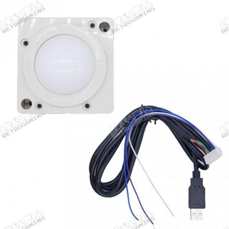 Trackball USB 2 pouces - Blanc
