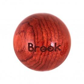 Poignée joystick Brook 35mm - bois de rose - package