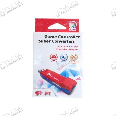 Brook Super Converter PS3/PS4 vers Switch ou Wii U - package
