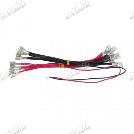 Faisceau alimentation LED 5V 12V 6.3mm
