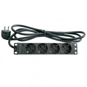 Rackmount power strip with 4 outlets