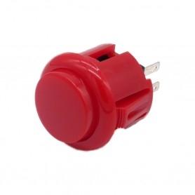 Bouton poussoir AIO 24mm - Rouge