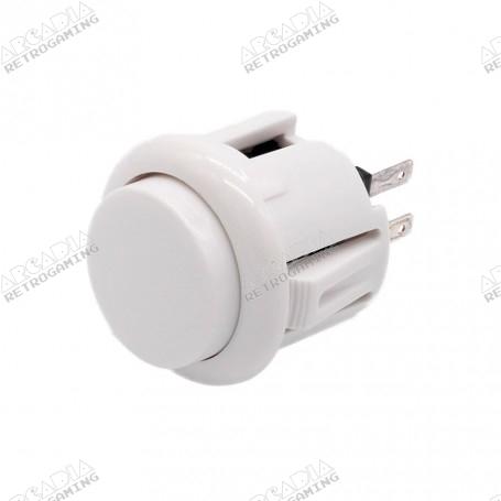 Bouton poussoir AIO 24mm - Blanc