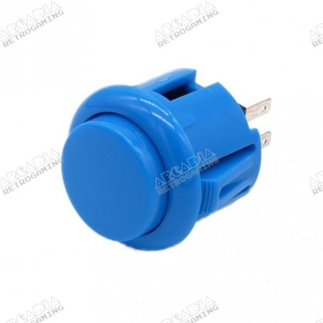 Bouton poussoir AIO 24mm - Bleu