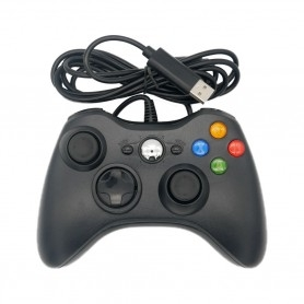 Manette filaire Xbox 360 - PC - Raspberry - Pandora box - Noire
