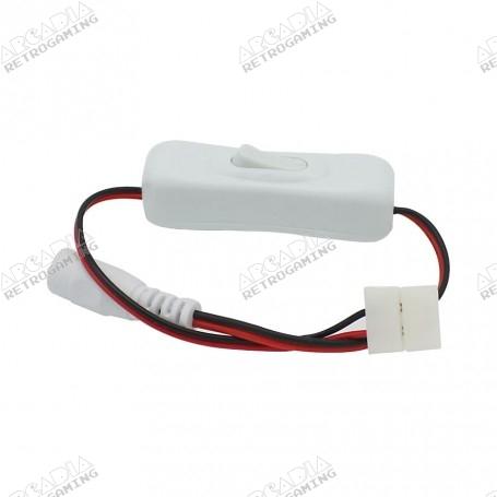 Connecteur pour bandeau LED sans soudure avec interrupteur