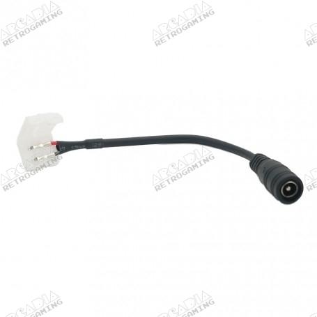 Câble alimentation sans soudure pour ruban led avec connecteur jack 2.1 x 5.5mm