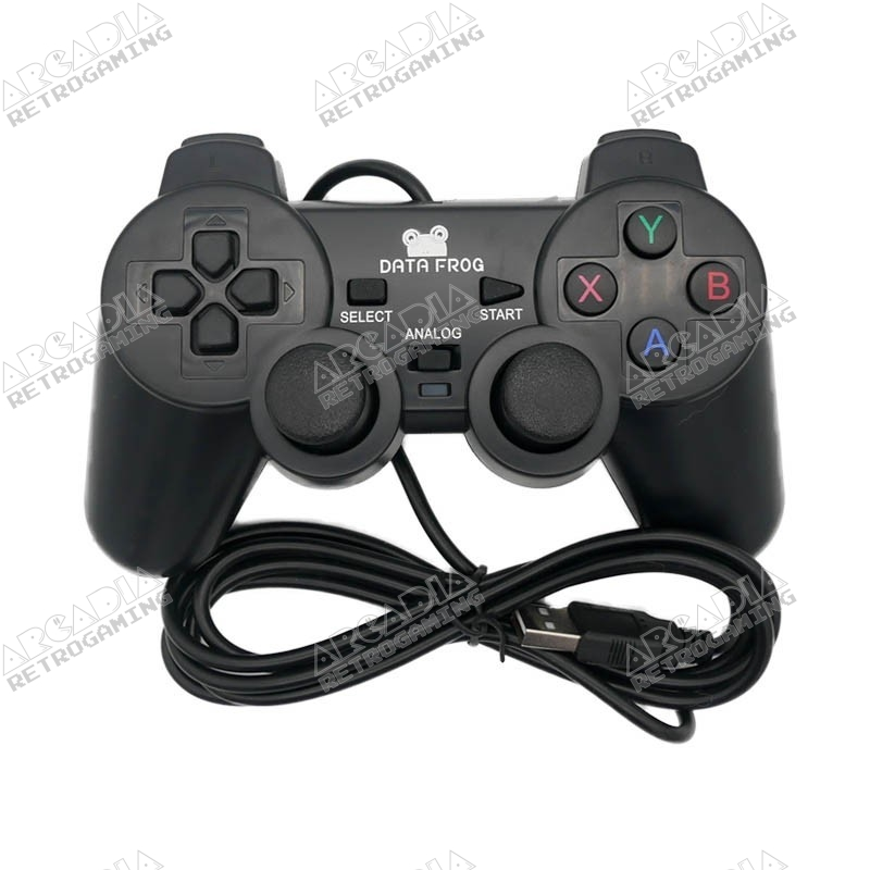 Manette filaire PS3 Data Frog pour PC - Raspberry - Pandora box