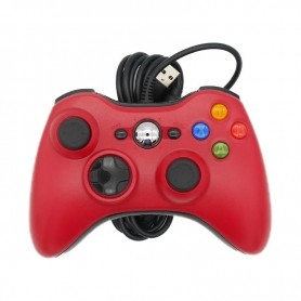 Manette filaire Xbox 360 Data Frog - PC - Raspberry - Pandora box - Rouge