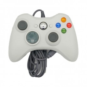 Manette filaire Xbox 360 Data Frog - PC - Raspberry - Pandora box - Blanche