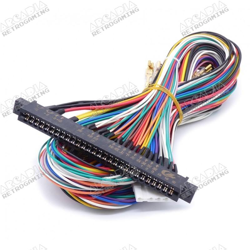 Câble Jamma 6 boutons 150 cm - cosses 4.8mm