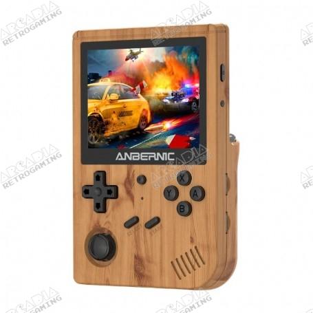 Anbernic RG351V handheld console - Wood