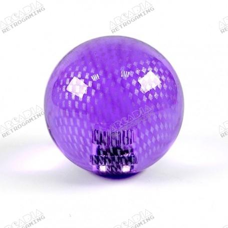 Poignée Joystick ronde KORI MESH transparente Violet