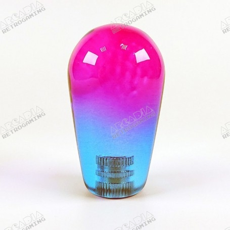 Poignée Joystick Poire KORI transparente - Bi-Color Violet-Bleu