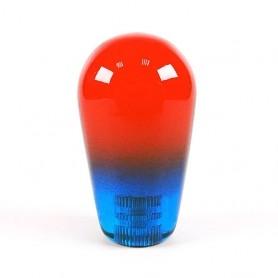 Poignée Joystick Poire KORI transparente - Bi-Color Rouge-Bleu