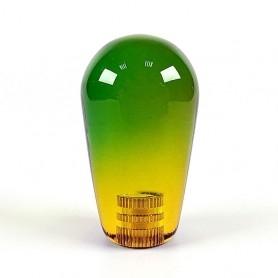 Transparent KORI joystick battop - Bi-Color Green-Yellow