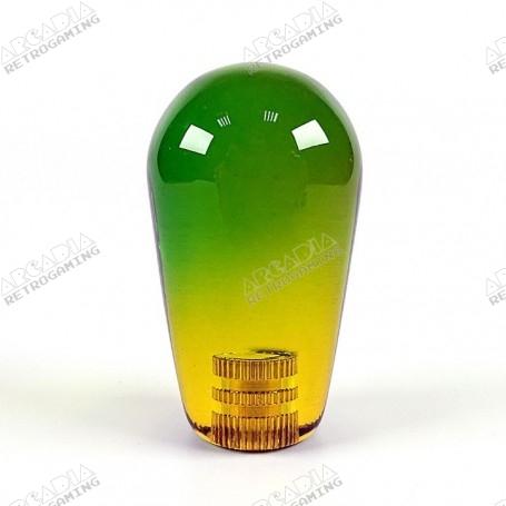 Poignée Joystick Poire KORI transparente - Bi-Color Vert-Jaune