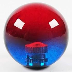 Poignée Joystick ronde KORI transparente - Bi-color Rouge-Bleu