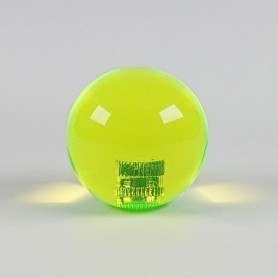 Poignée Joystick ronde KORI transparente - Jaune