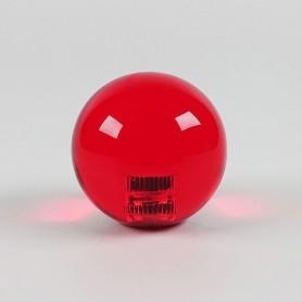 Poignée Joystick ronde KORI transparente - Rouge