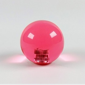 Poignée Joystick ronde KORI transparente - Rose