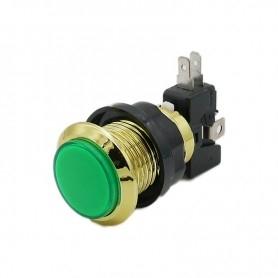 Gold illuminated push button - Green