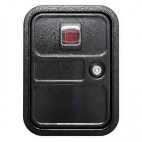 Door with credit button