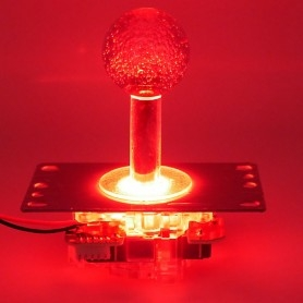Joystick Lumineux avec guide octogonal - Rouge - Allumé