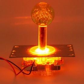 Illuminated joystick with octagonal restrictor - Yellow - on