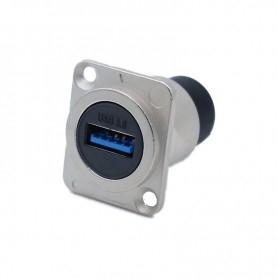 Prise façade USB 3 - Grise