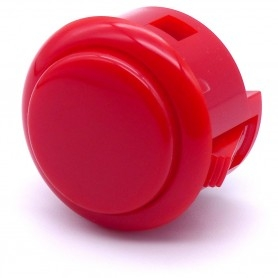 Sanwa OBSF-30 button - Red