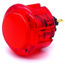 Bouton Seimitsu Transparent PS-14-K - Rouge