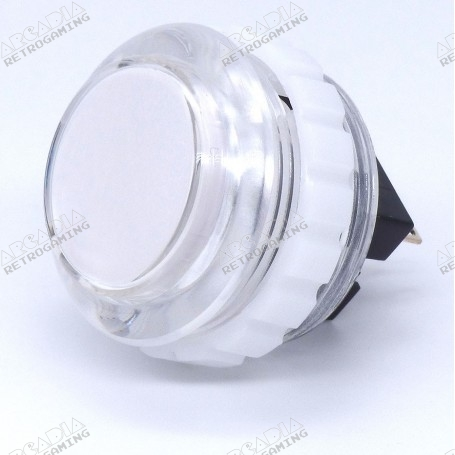 Bouton Seimitsu Transparent PS-14-KN - Blanc