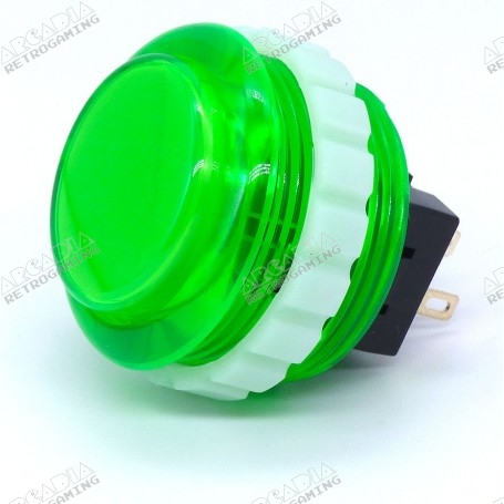 Seimitsu Transparent Button PS-14-KN - Green