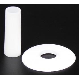 Seimitsu LS-CD shaft and dust cover - White - black background