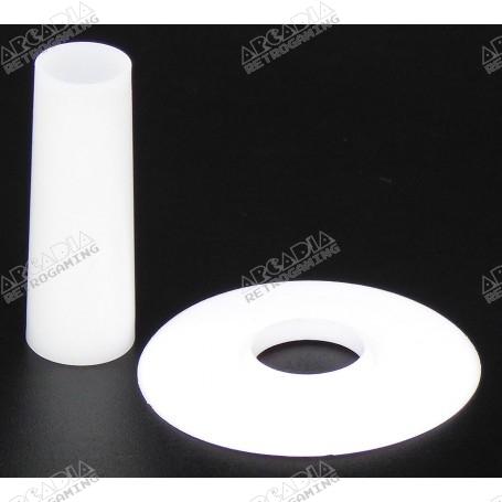 Couvre tige et anti poussière Seimitsu LS-CD - Blanc - fond noir