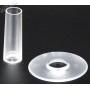 Seimitsu LS-CD shaft and dust cover - Transparent - White - black background
