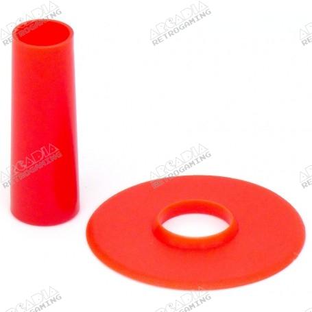 Couvre tige et anti poussière Seimitsu LS-CD - Rouge