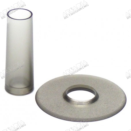 Seimitsu LS-CD shaft and dust cover - Transparent Smoke gray